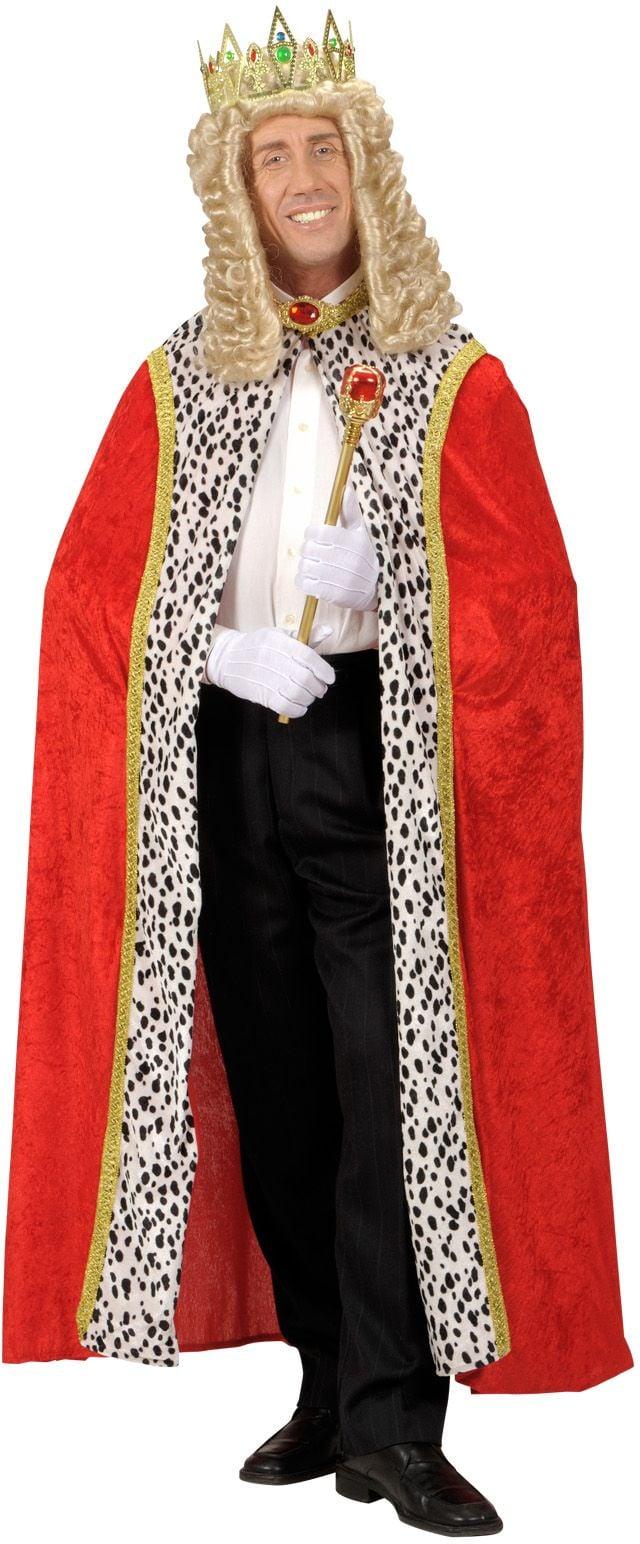 Rode koninklijke mantel