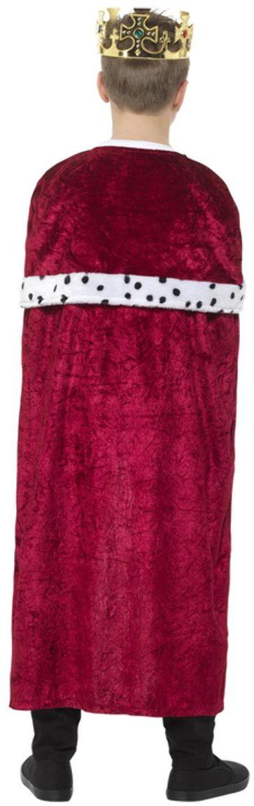 Rode koninklijke mantel voor kinderen