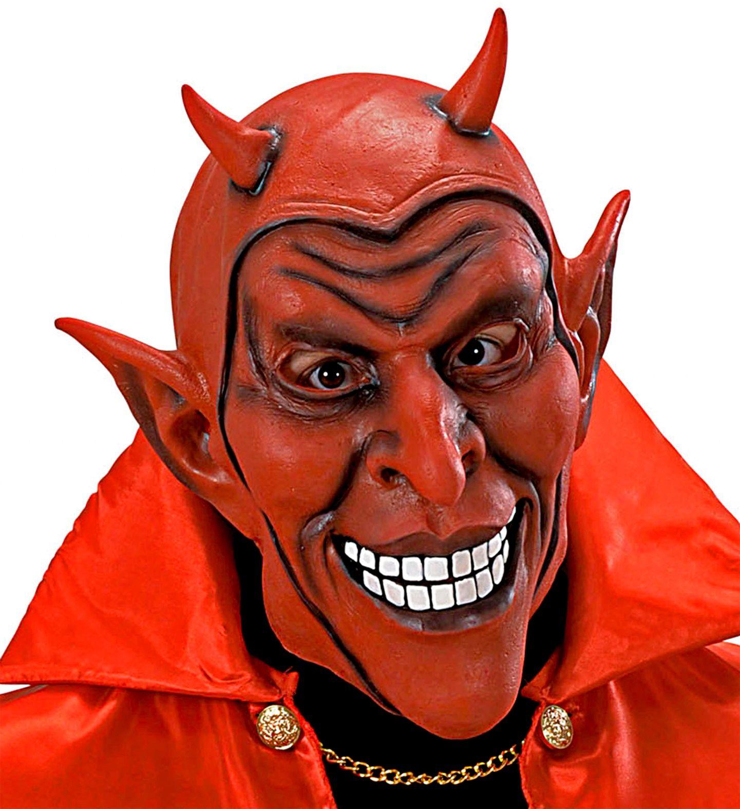 Rode lachend duivel masker