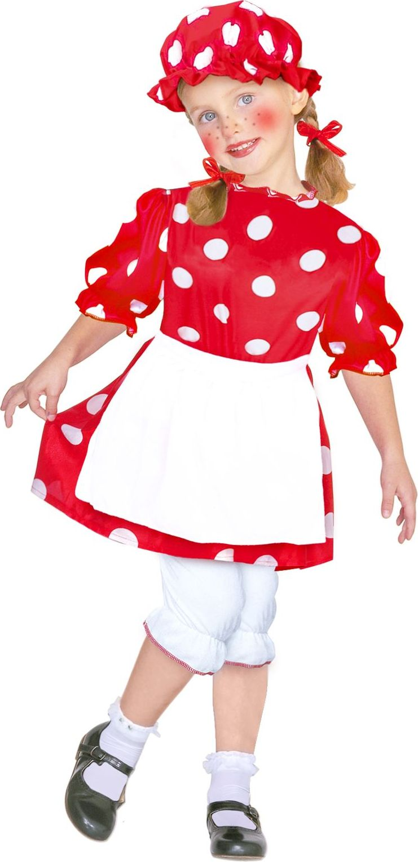Rode lappenpop kostuum kind