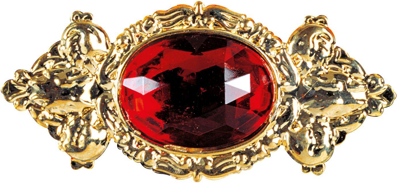 Rode luxe maxi Broche