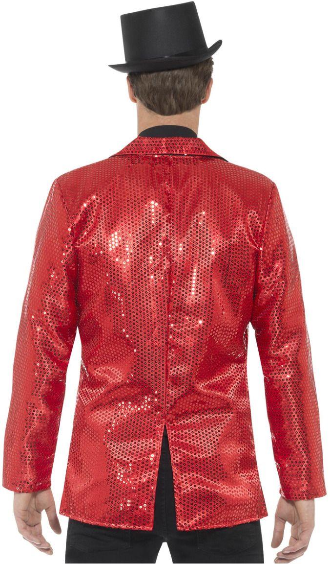 Rode mannen pailletten jasje