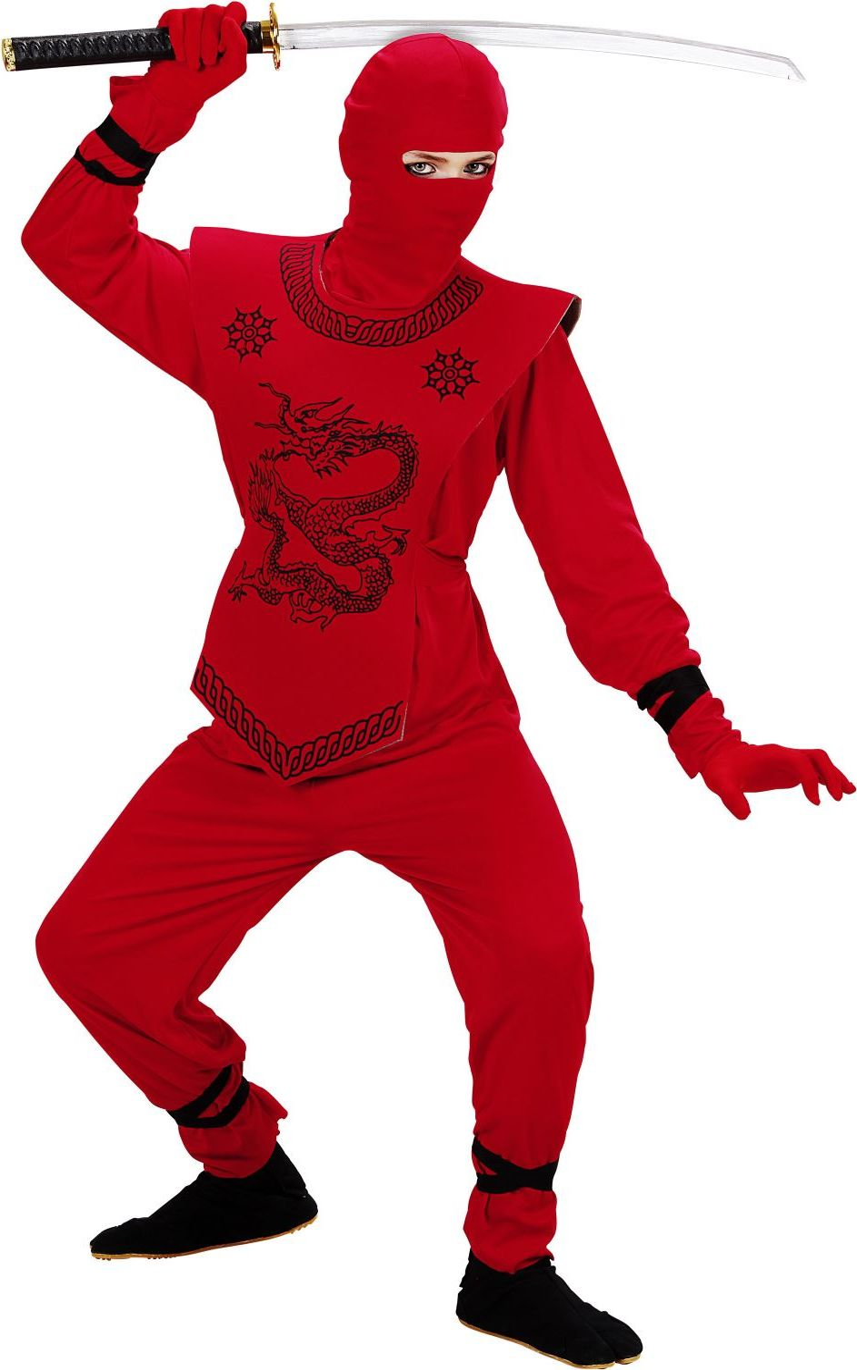 Rode ninja kostuum