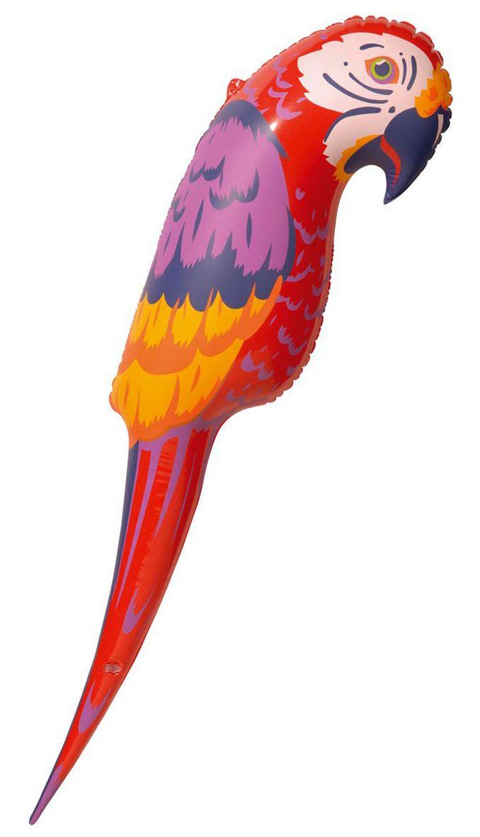 Rode opblaasbare papegaai