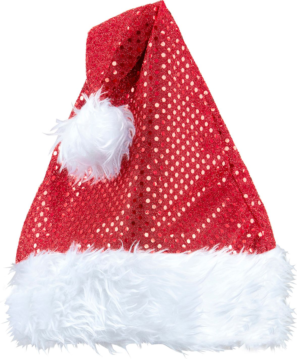 Rode pailletten kerstmuts