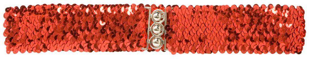 Rode pailletten riem
