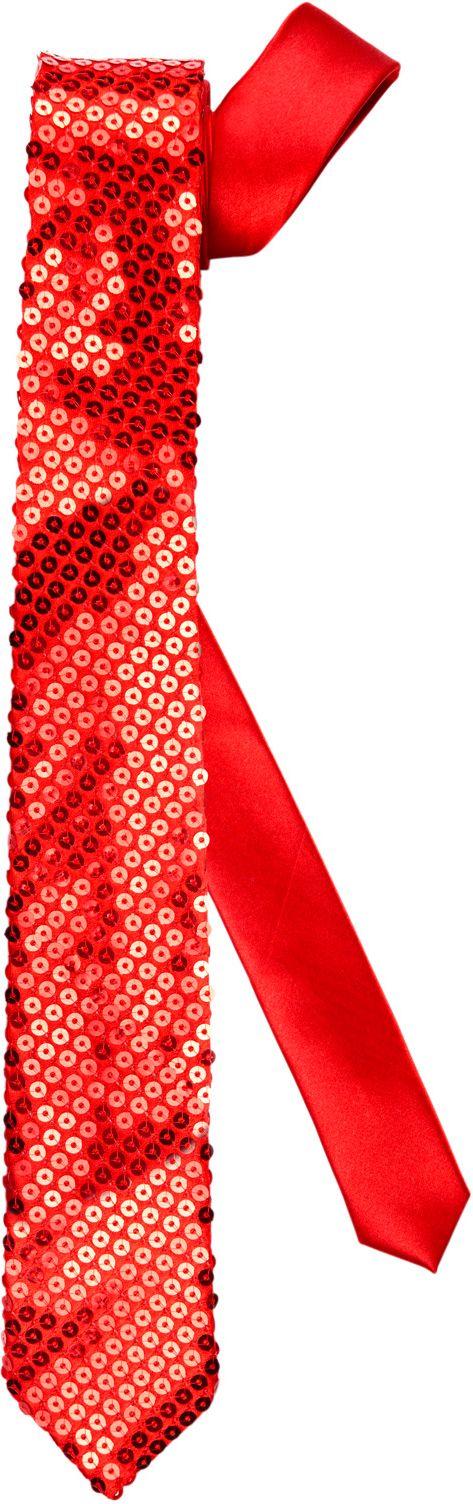 Rode pailletten stropdas