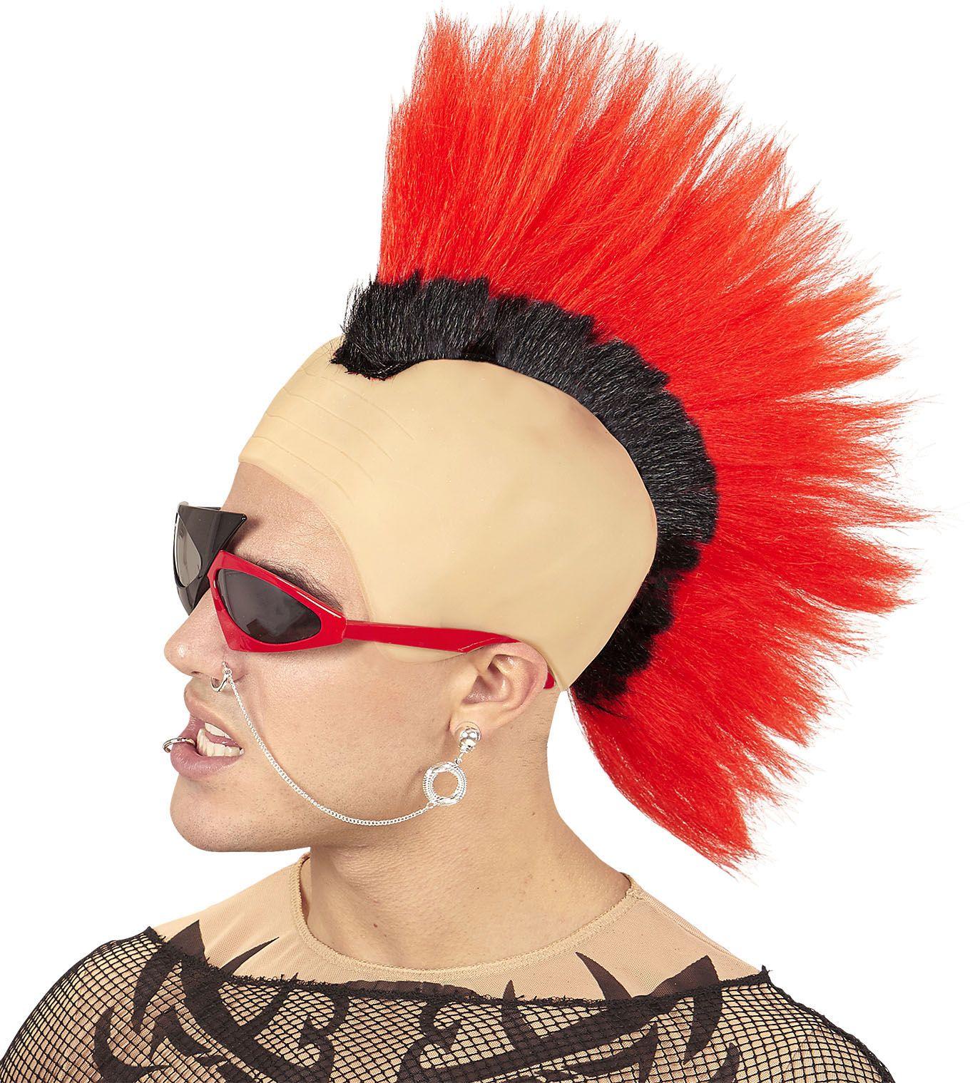 Rode punk hanenkam