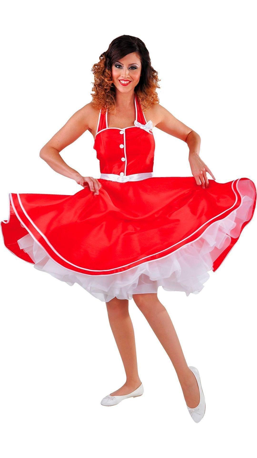 Rode retro jurk dames