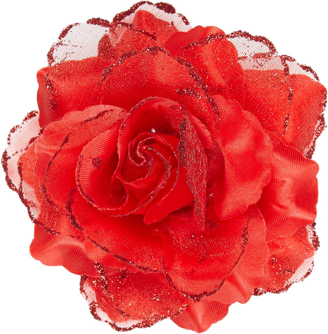 Rode roos haarclip
