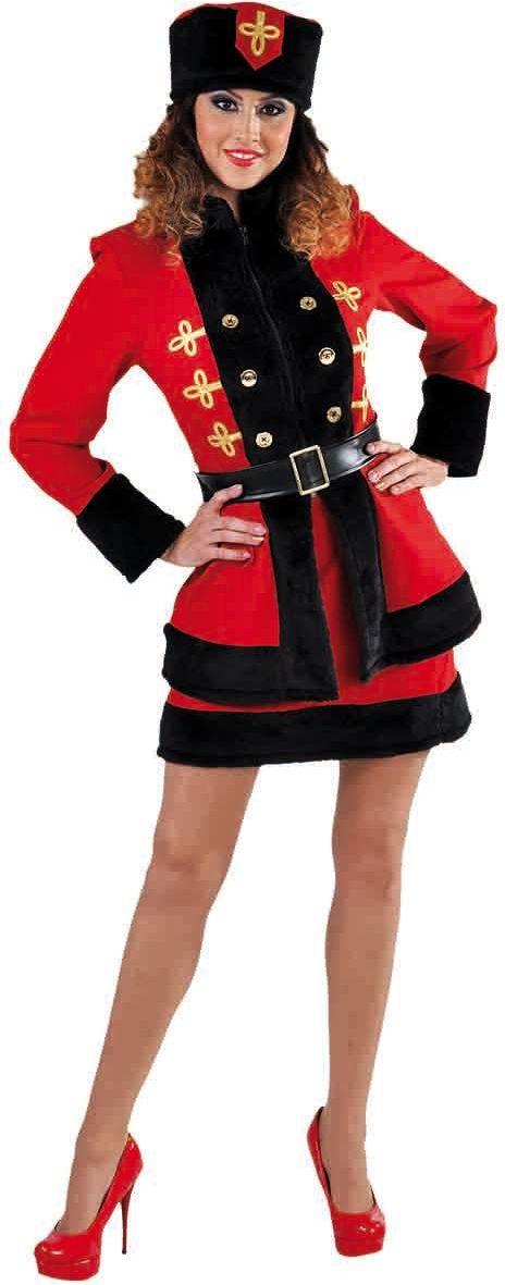 Rode russische jurk dames