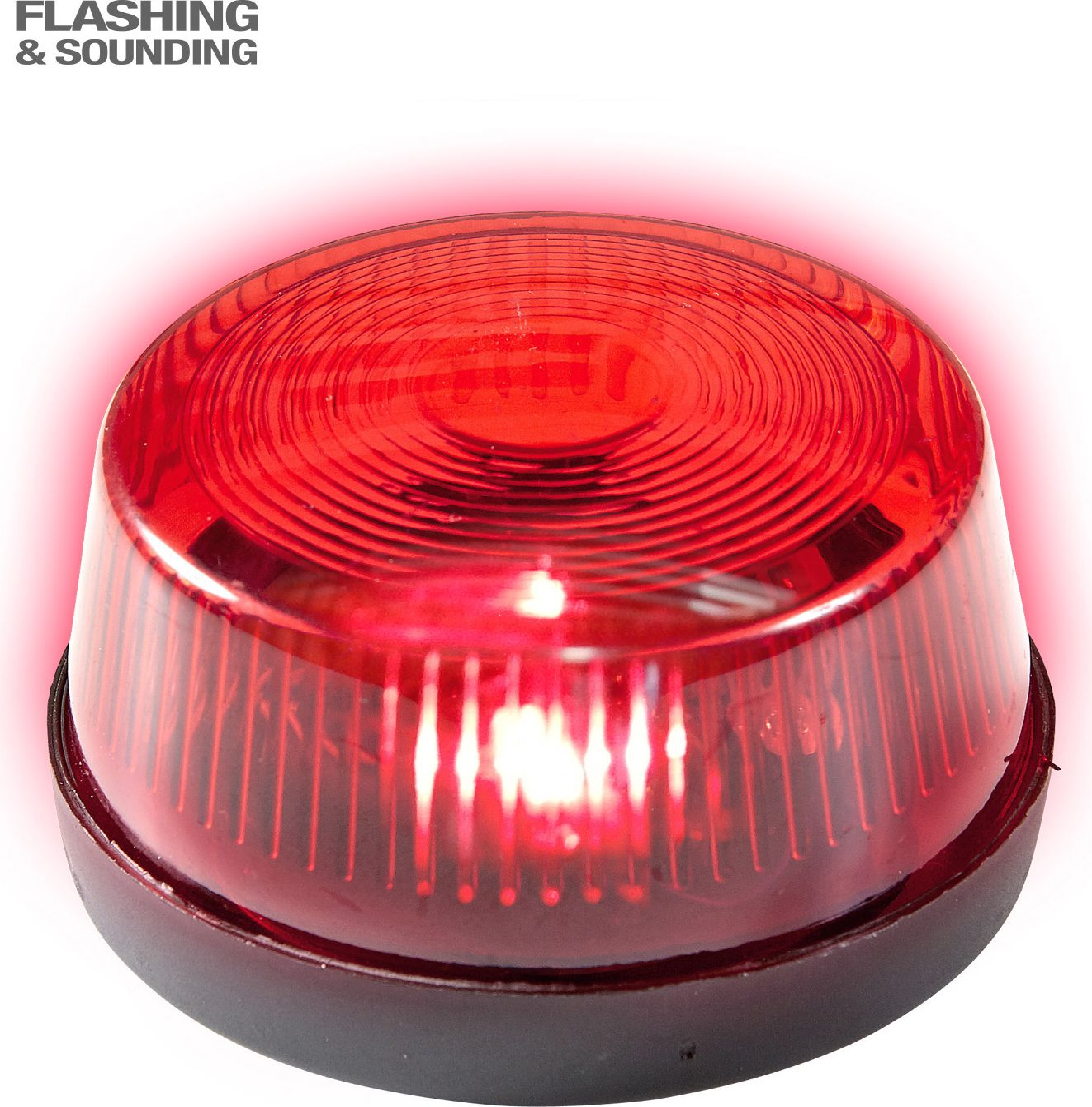 Rode sirene met geluid