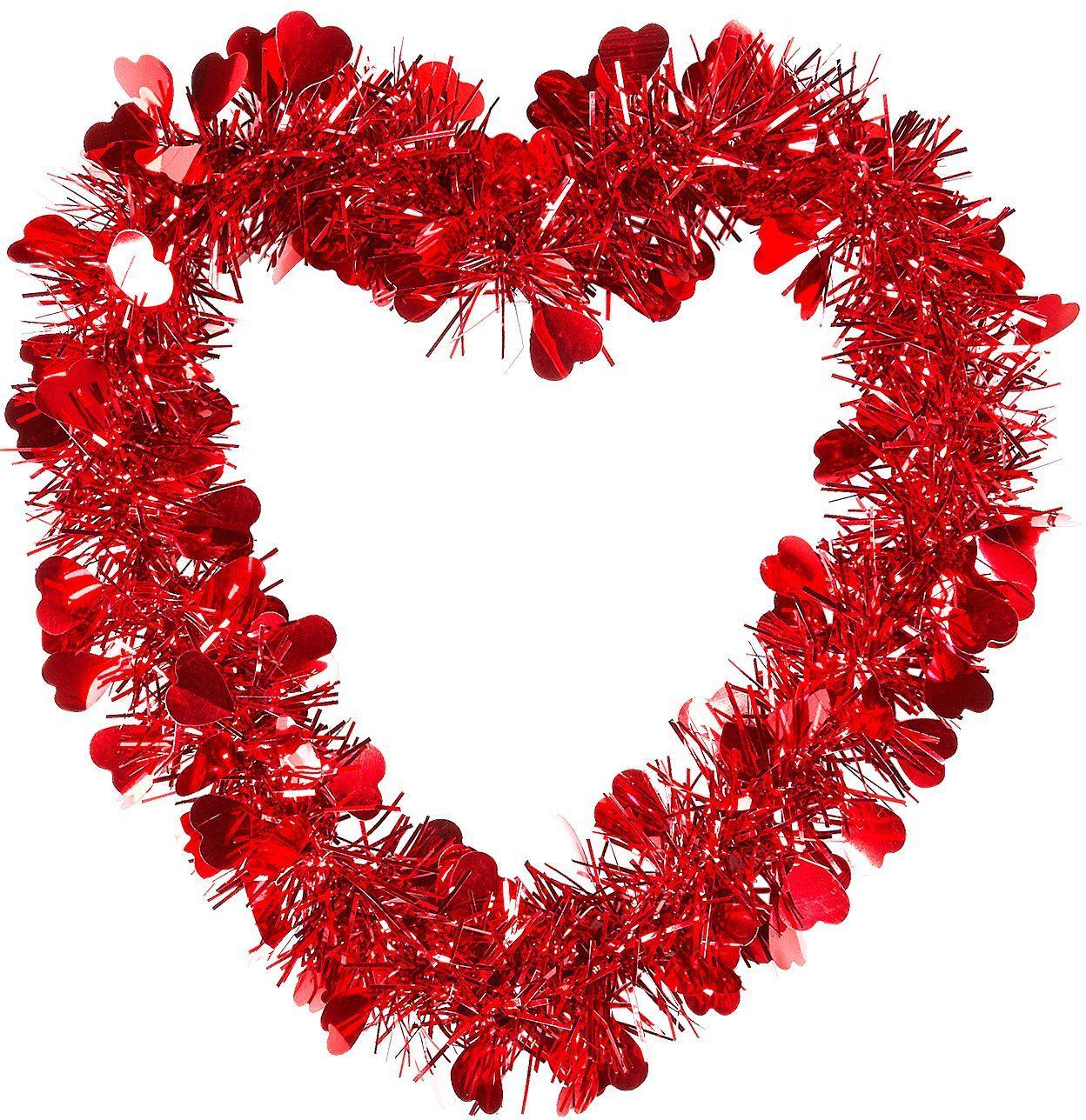 Rode valentijnshart guirlande