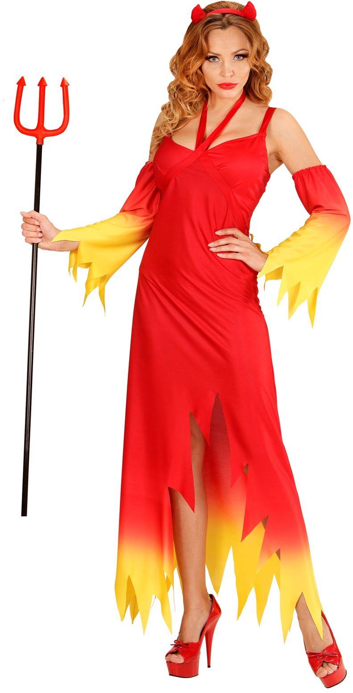 Rode vlammen duivel jurk