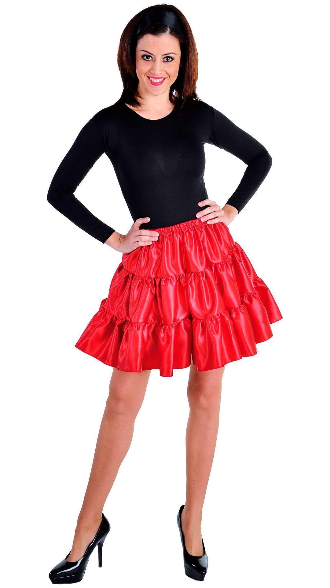 Rode volangen rok vrouwen kort
