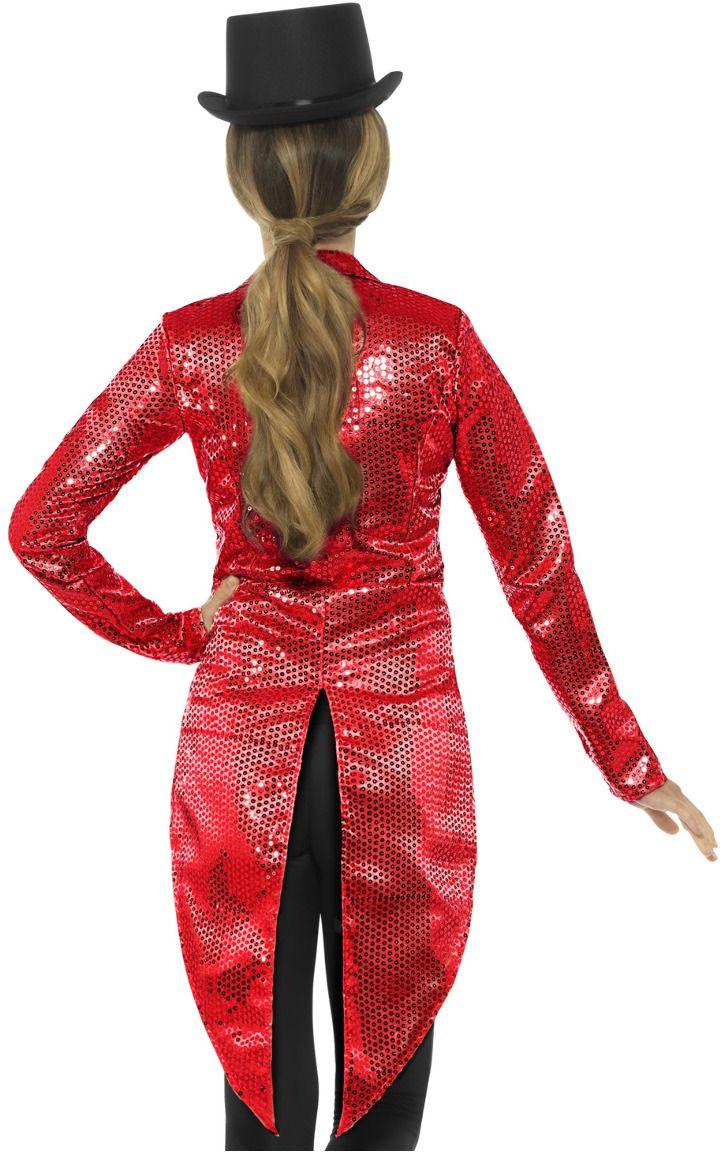 Rode vrouwen pailletten jasje