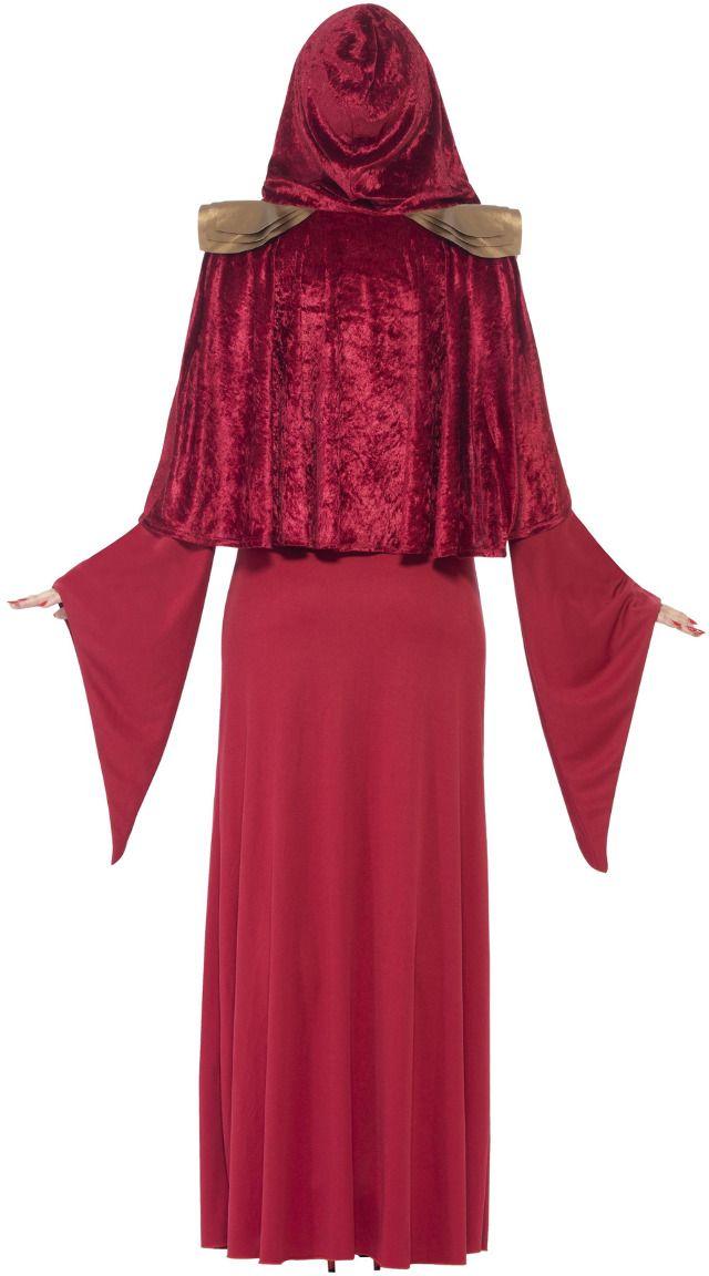 Rode vrouwen priester kostuum