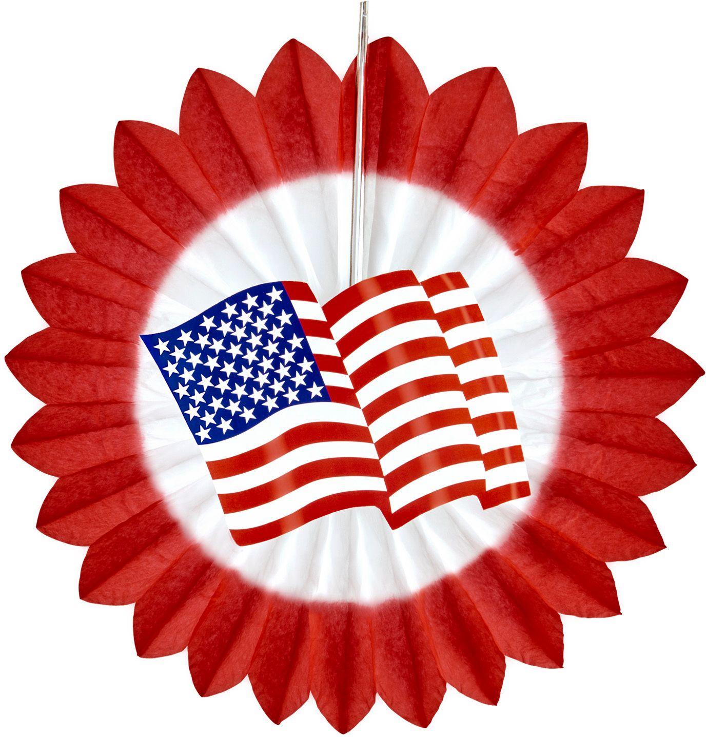 Rode waaier met USA vlag
