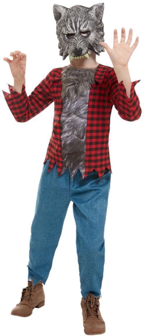 Rode weerwolf jongens kostuum