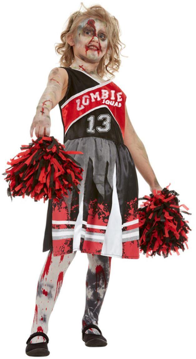 Rode zombie cheerleader meisjes pakje