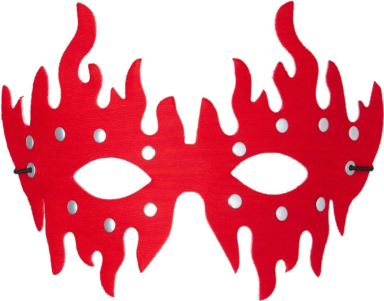 Rood beslagen oogmasker