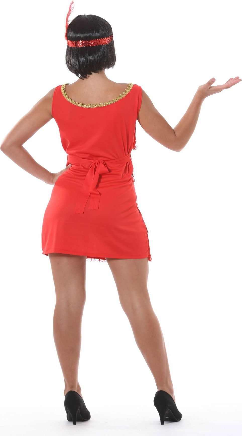 Rood charleston jurk
