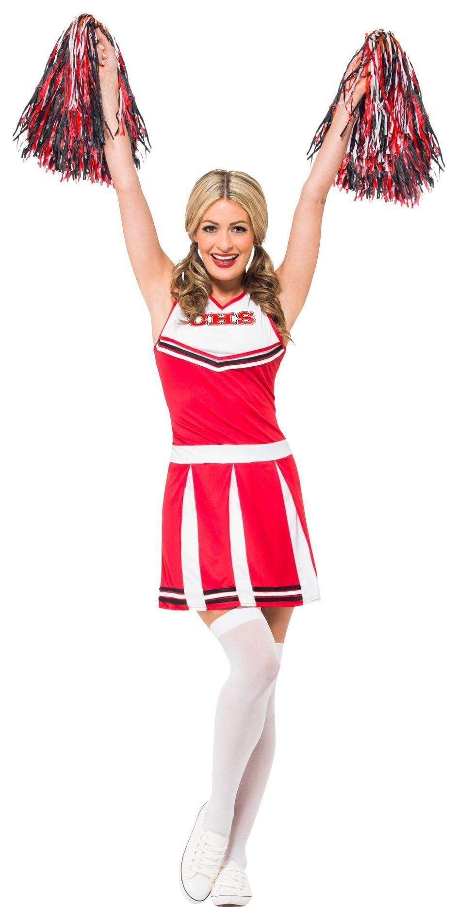 Rood cheerleader jurkje