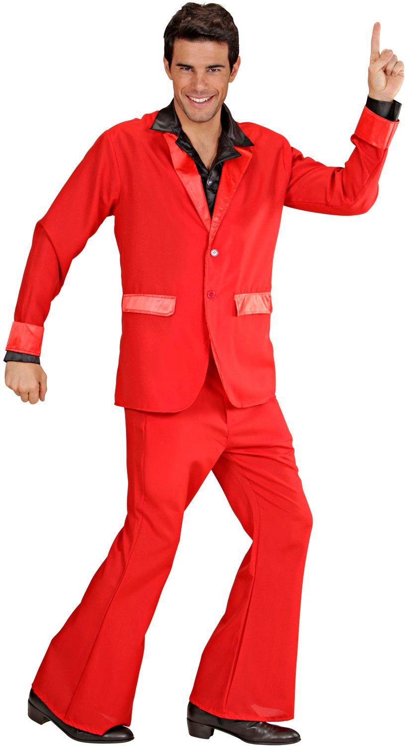 Rood disco kostuum