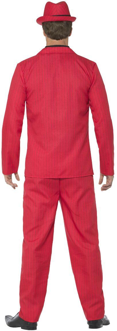 Rood gangster kostuum heren