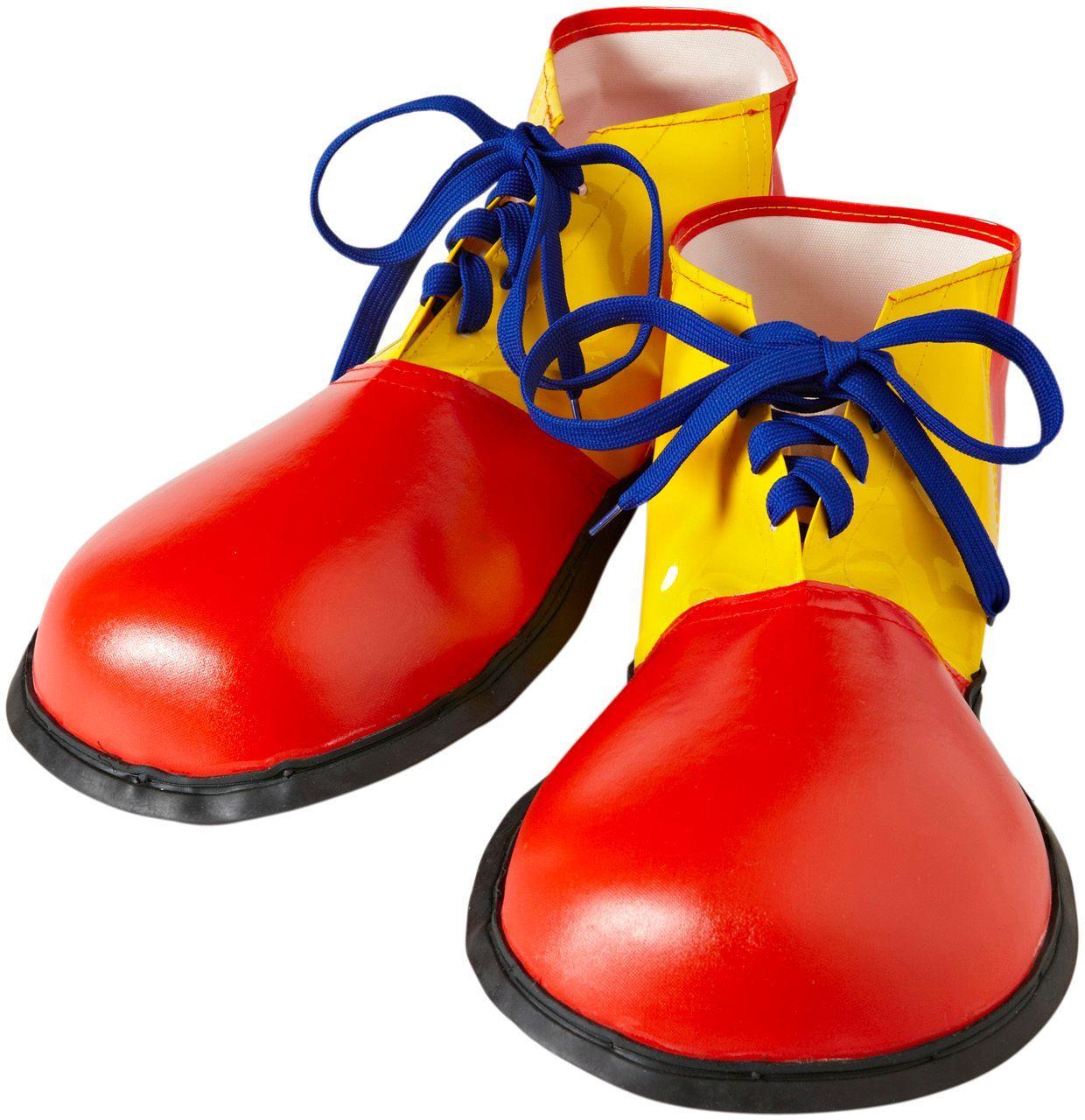 Rood gele clownsschoenen