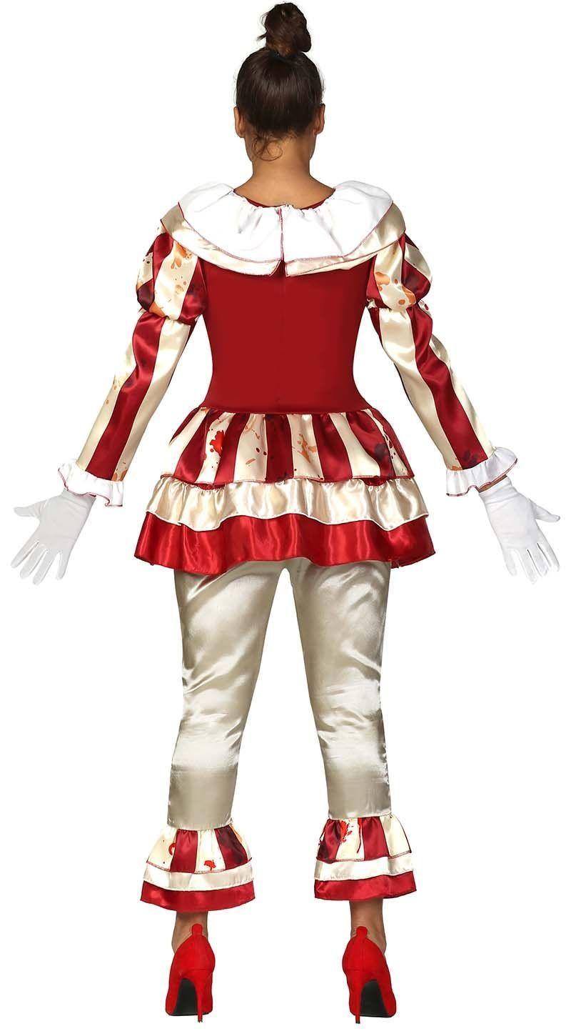 Rood gouden horror clown kostuum