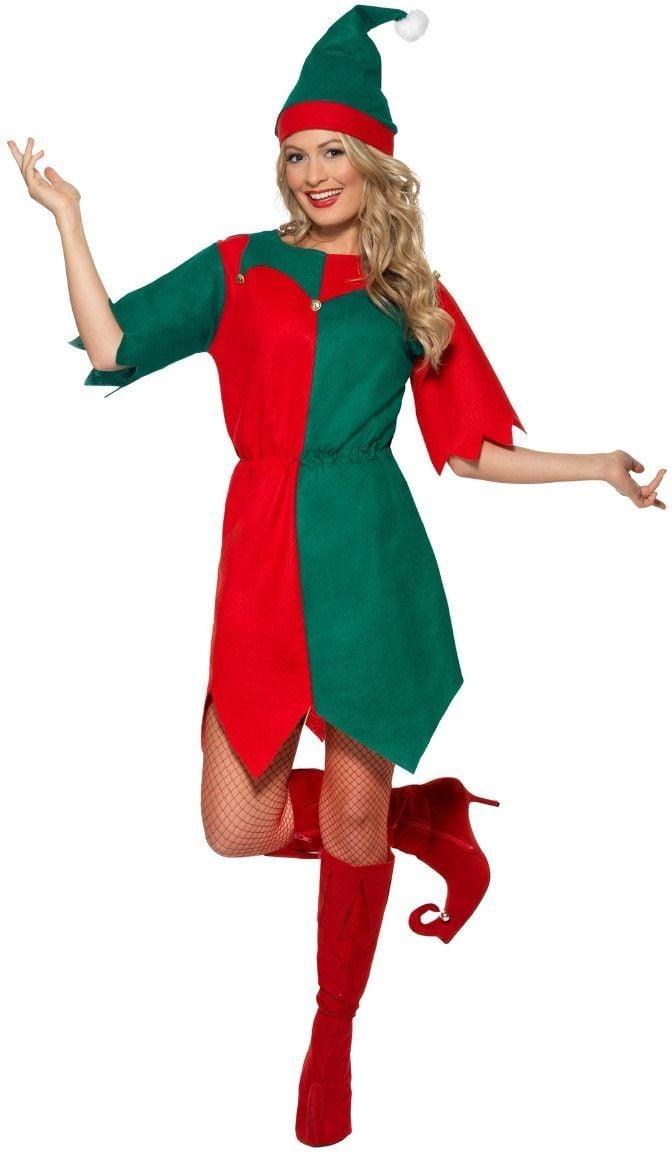 Rood groen elf kostuum dames