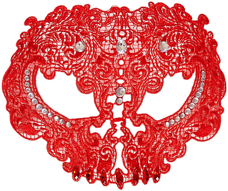 Rood kanten schedel masker