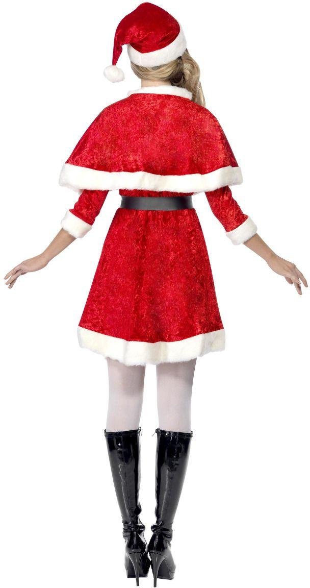 Rood kerstvrouwen kostuum