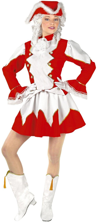 Rood majorette kostuum