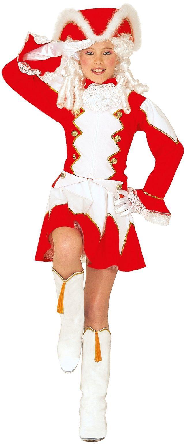 Rood majorette kostuum kind