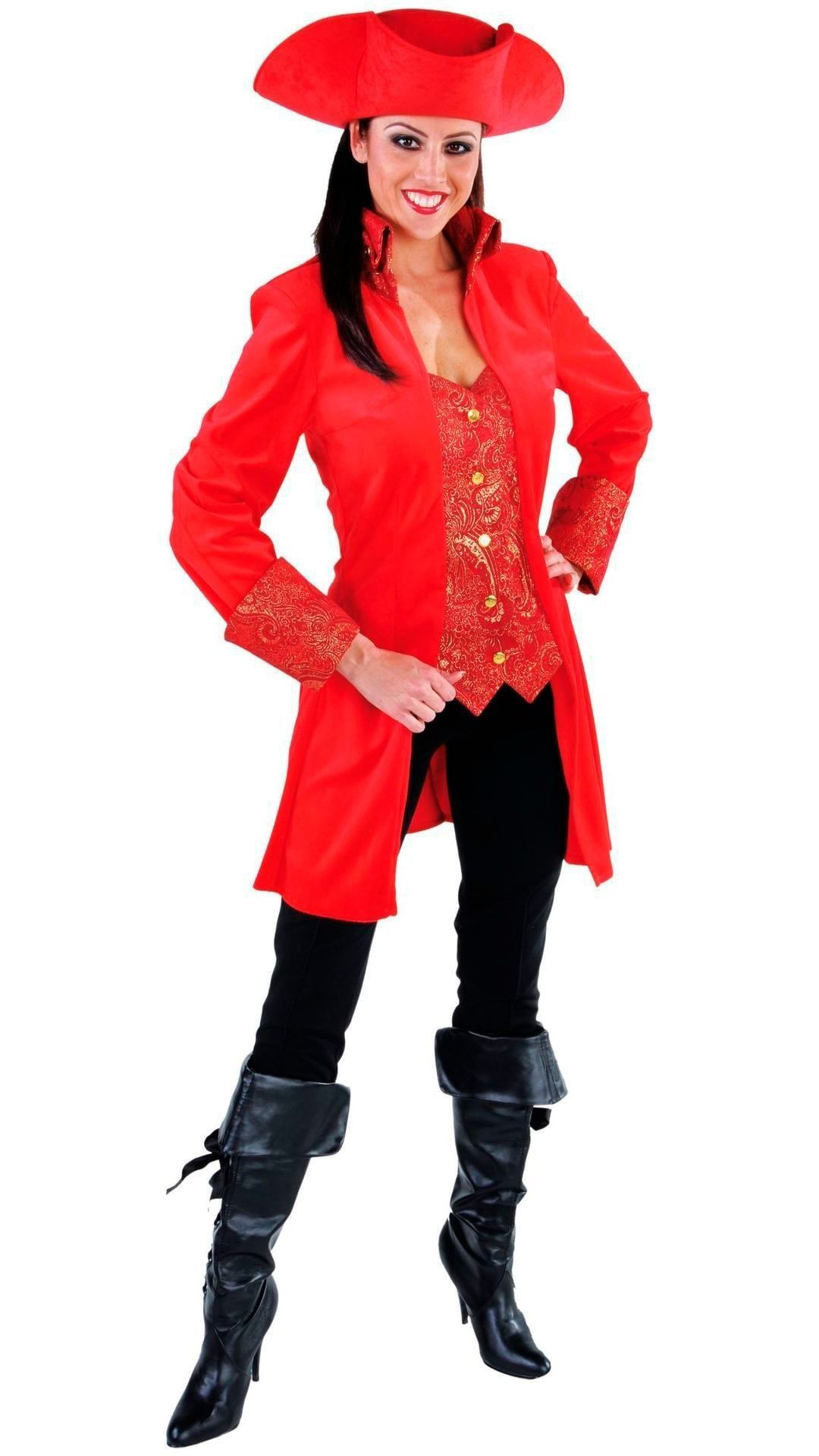 Rood markiezin jasje dames