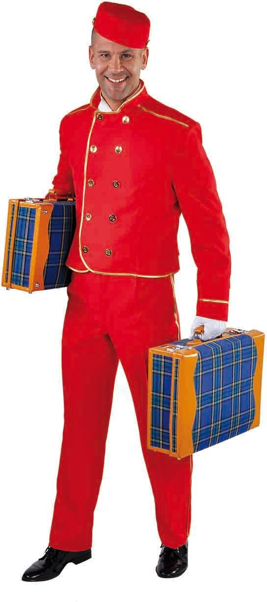 Rood piccolo kostuum mannen