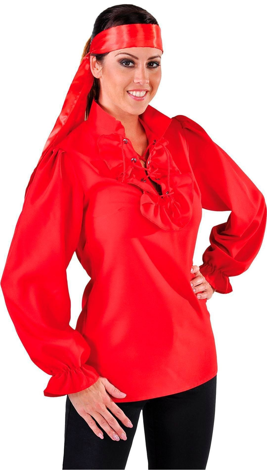 Rood piraten blousje dames