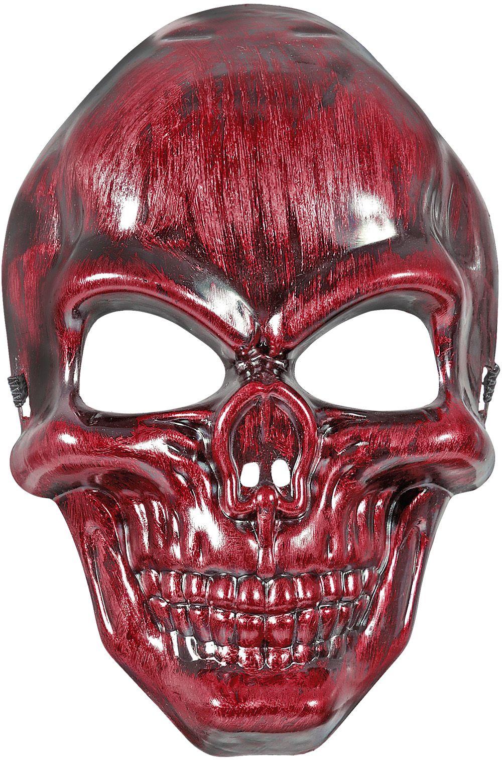 Rood schedel masker