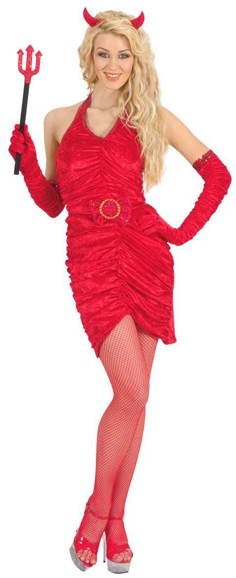 Rood Sexy duivel jurkje