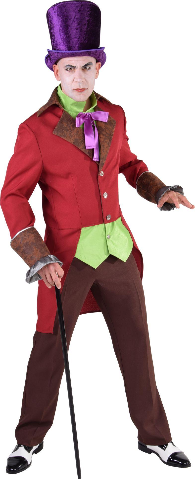 Rood steampunk kostuum heren