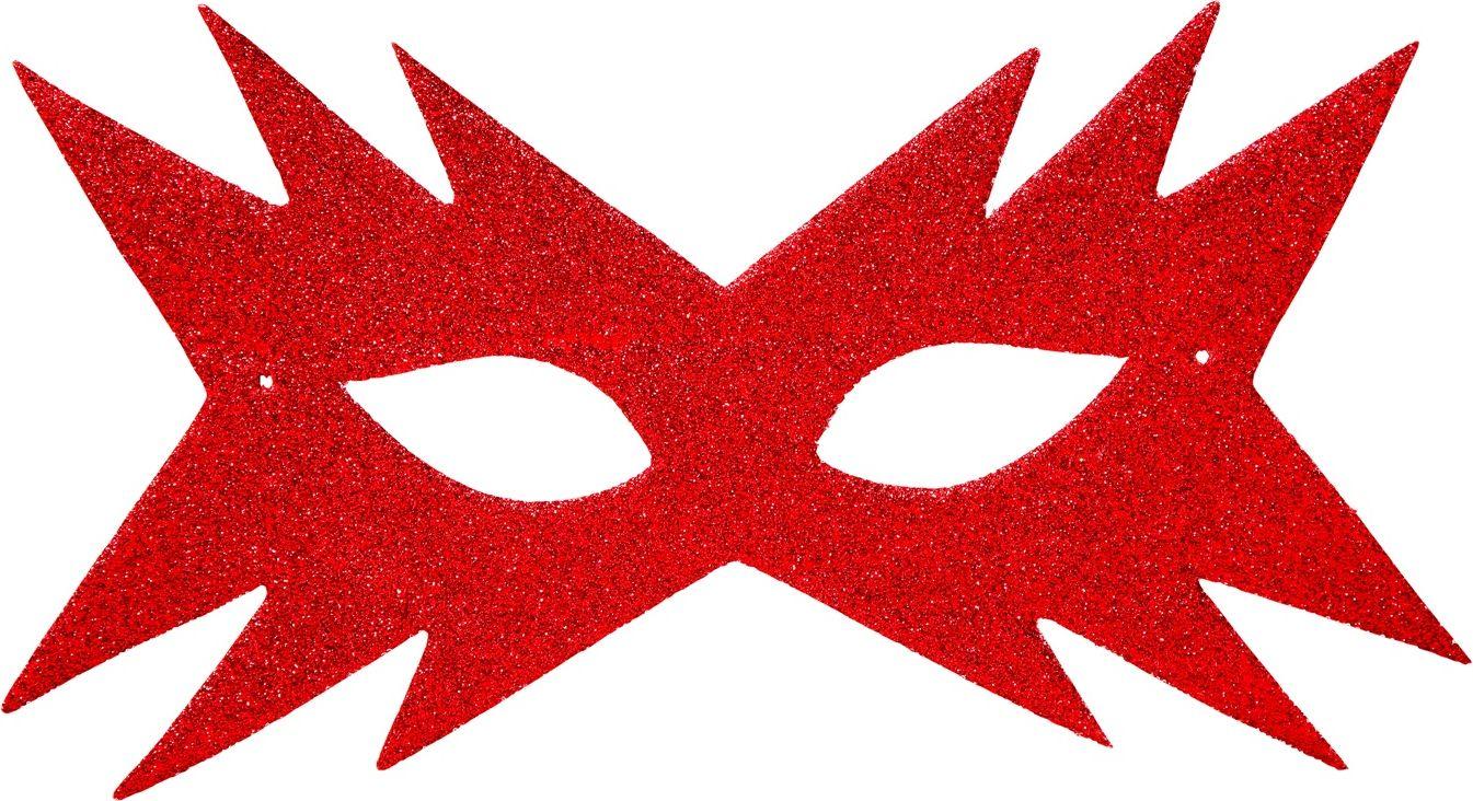 Rood sterren oogmasker