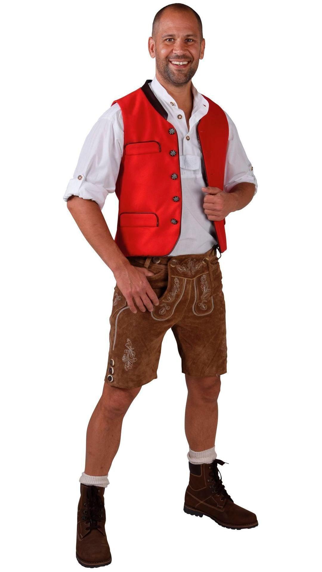 Rood vest oktoberfest heren