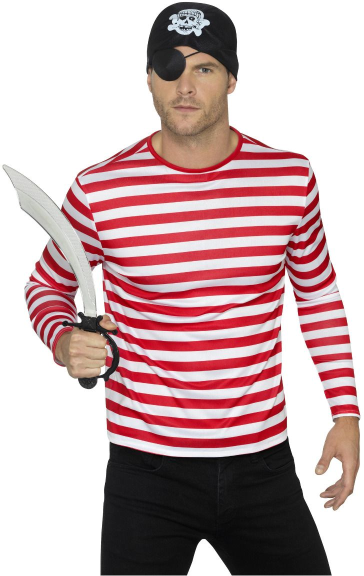 Rood wit gestreept wally shirt