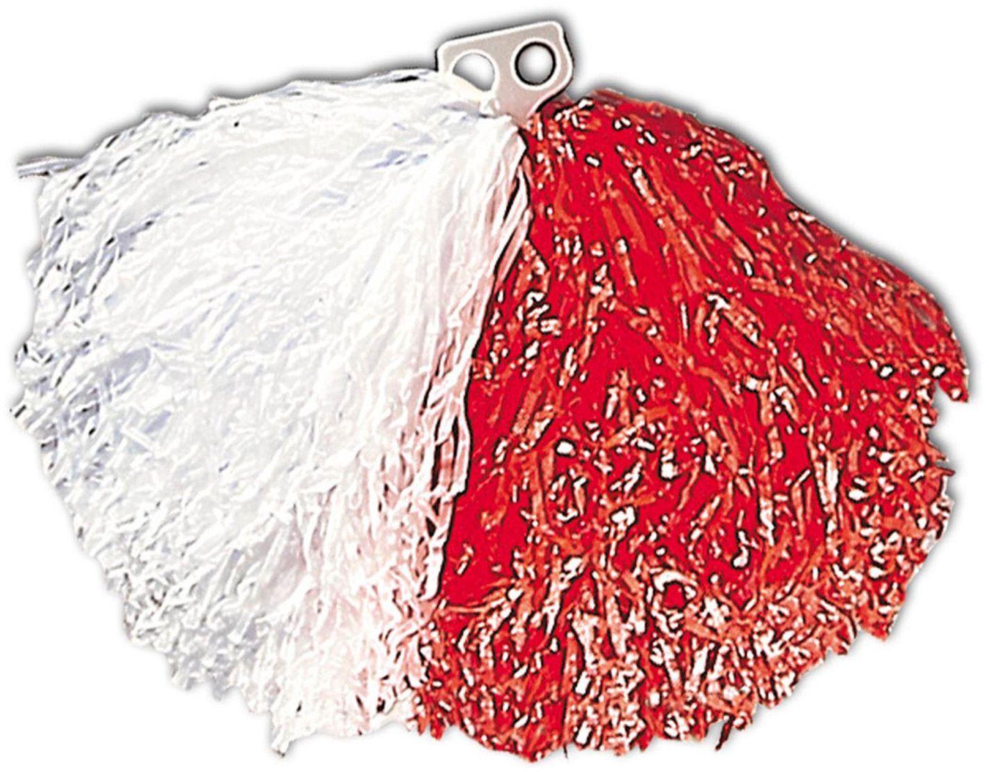 Rood witte cheerleader Pom Pom