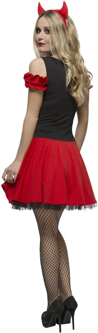 Rood zwart duivels jurkje