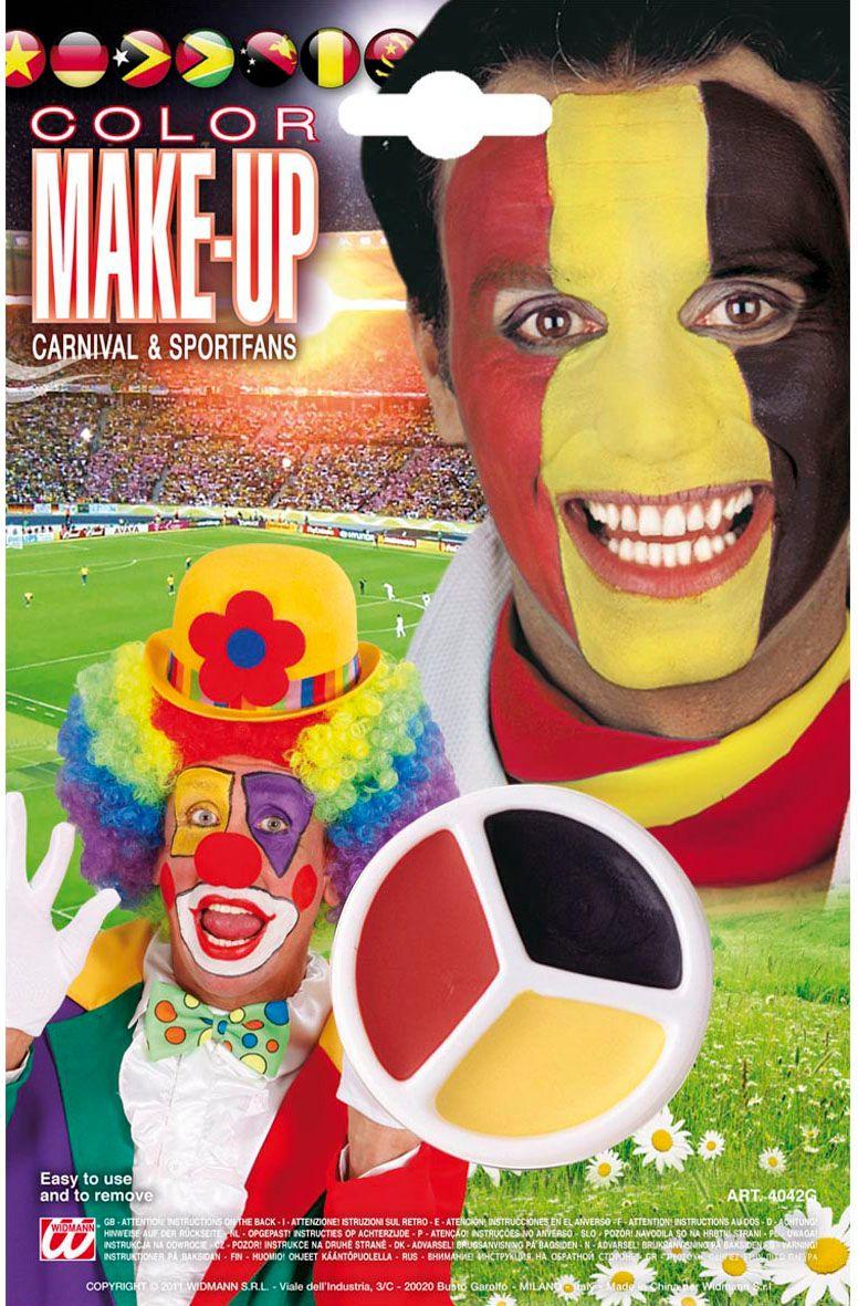 Rood zwart geel make-up set