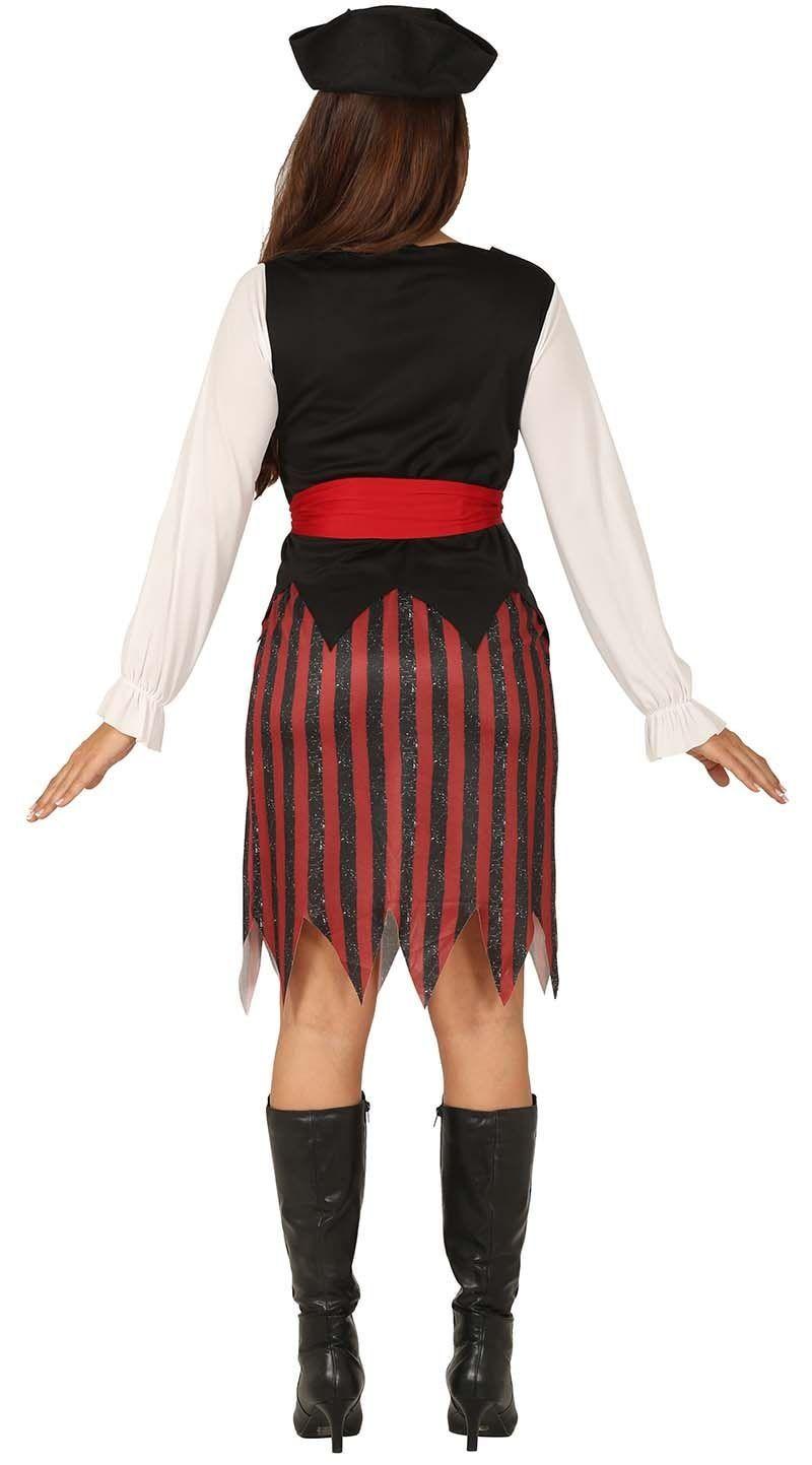 Rood zwarte piraten outfit dames