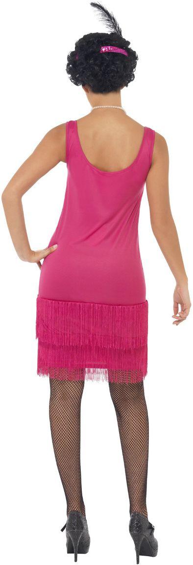 Roze 20s flapper jurkje
